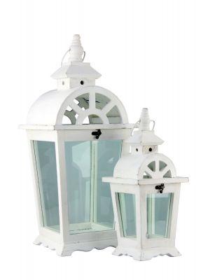 Drevený lampáš, sada 2 kusov - LT0036wx