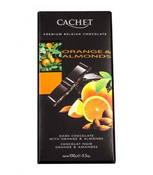 Horká čokoláda s pomarančom a mandľami, Cachet