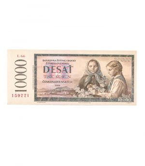 Bankovka štátnej banky československej 10 000 Kčs, 60g
