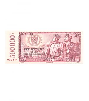 Bankovka štátnej banky československej 500 000 Kčs, 60g