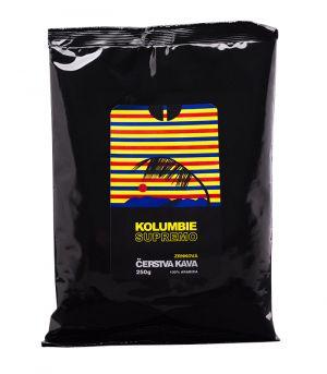 Čerstvá káva Kolumbia Supremo, zrnková