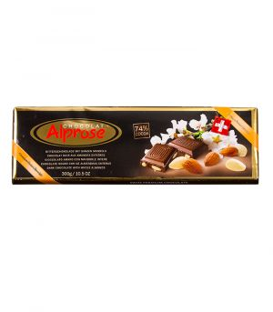 Premium horká čokoláda s mandľami, Chocolat Alprose