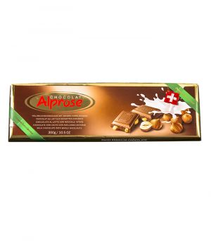 Premium mliečna čokoláda s celými lieskovými orechmi, Chocolat Alprose