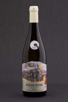 Rizlink rýnsky 2014, ručný zber, zemské víno, Babí lom