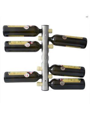 Nerezový stojan na 8 vín, nástenný - STOP0005