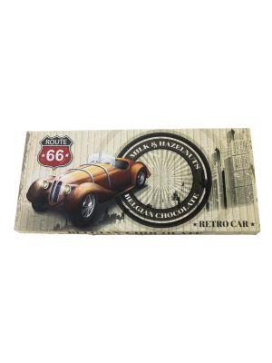 Belgická mliečna čokoláda s lieskovými orechmi - RETRO CAR 400g