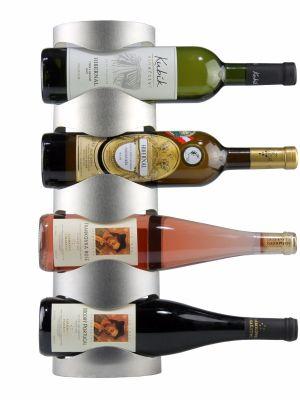 Nerezový stojan na 4 vína, nástenný STOP0004