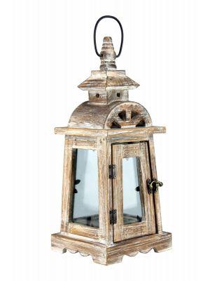 Drevený lampáš - LT0040bm