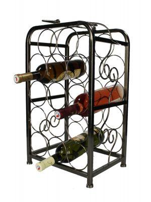 Stojan na víno na 14 lahví , kov - STOV