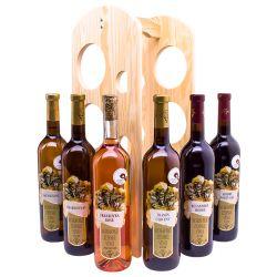 Degustačná sada vín so stojanom
